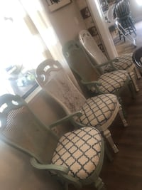 4 Cane Back Dining Chairs