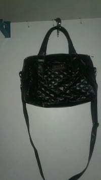 black leather 2-way bag Lancaster