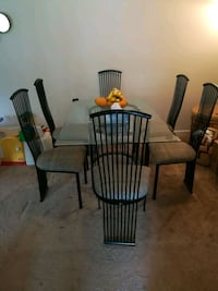 Grey n black rot iron dining set with glass table! Fairfax, 22030
