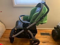 baby's green and black stroller Severn, 21144