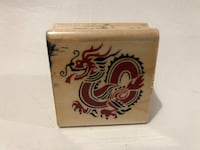 Rubber stampede A2449C Chinese Dragon stamp Rocklin, 95677