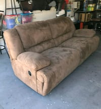 Used recliner sofa and recliner sofa chair.