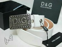 white Dolce & Gabbana belt with box Vancouver, V6P 2T8
