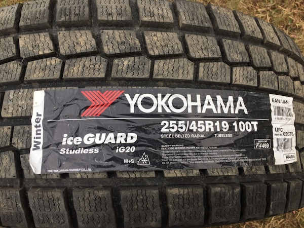 "Yokohama 19"" winter tire and rim.. brand new"