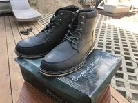 Pair of black leather boots size 12. Brand new in box 2266 mi