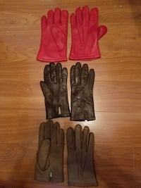 Lot of three pairs of vintage women's leather glov TAMPA
