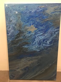 blue and black abstract painting Mississauga, L5K 1A8
