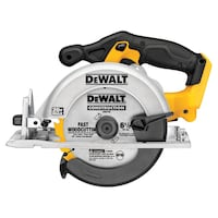 DEWALT 20-volt Max 6-1/2-in Cordless Circular Saw with Brake and Magnesium Shoe (Battery Not Included) 4806 mi