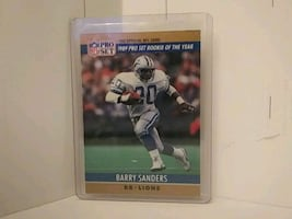 Barry Sanders Rookie of the Year card