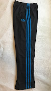 Black and Blue Adidas Track pants Burnaby, V5E 1H3