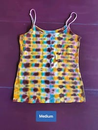 Womens Medium Tank Top Tie Dye