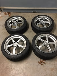 225/45R17 Blizzak tires and TSW rims mercedes East Haven, 06512