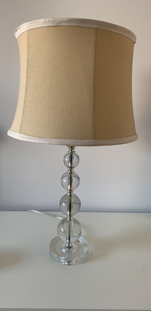 used bedside table lamp with lampshade for sale in matawan letgo rh tr letgo com