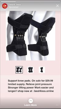 Support knee pad