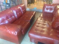 red leather tufted sofa chair Corpus Christi, 78413