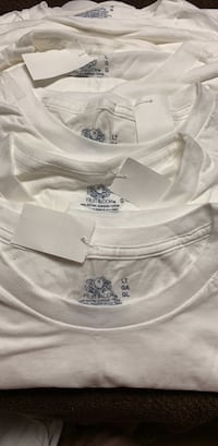 $5 for all SZ Large men's white t shirts. New!