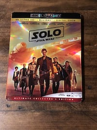 Solo A Star Wars story 4K Blu Ray and Digital copy