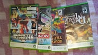 four Xbox 360 game games