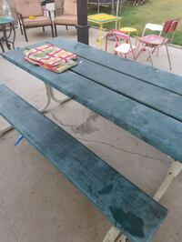 rectangular gray metal table with two chairs Costa Mesa, 92627