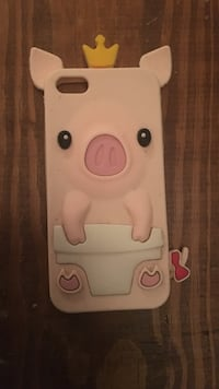 White pig iphone case