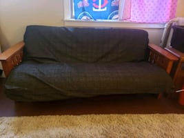 Q Futon and solid wood frame