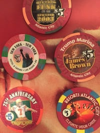 Collectable poker chips (real ) Pottsville, 17901