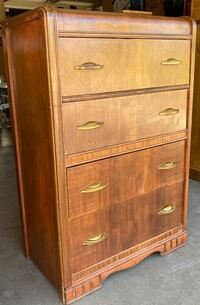 Classic Vintage Early 1900's 4 Drawer Waterfall Dresser Chest