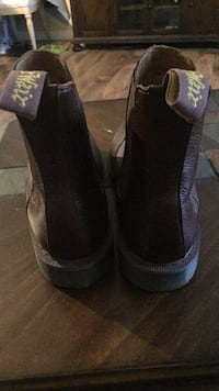 Pair of black leather Chelsea style doc martens from downtown Seattle doc store worn only to interviews  Mill Creek, 98012