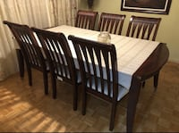 brown wooden windsor chairs with table  Toronto, M9V 5A5
