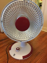 white and red desk fan Englewood, 07631