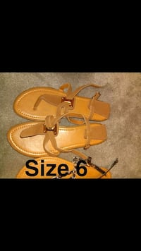 pair of brown leather sandals Calexico, 92231