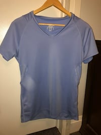 Blue v-neck athletic t-shirt Richmond, V7C