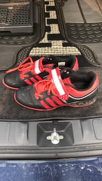 Pair of red-and-black adidas sneakers Toronto, M4J