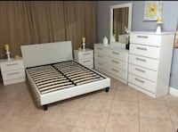 Full or Queen Bedroom Set (6pcs) Hialeah, 33015