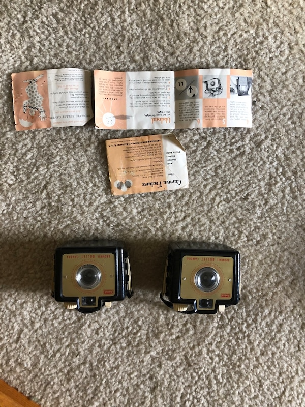 Kodak brownie bullet cameras lot of 2 Tested and work