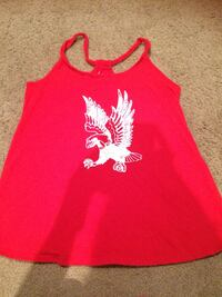 red and white floral tank top Lafayette