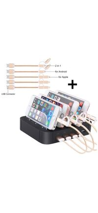 New Charging Station for Multiple Devices 5 Charging Ports Organizer Las Vegas, 89178