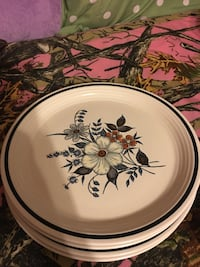 round white and blue floral ceramic plate Grottoes, 24441