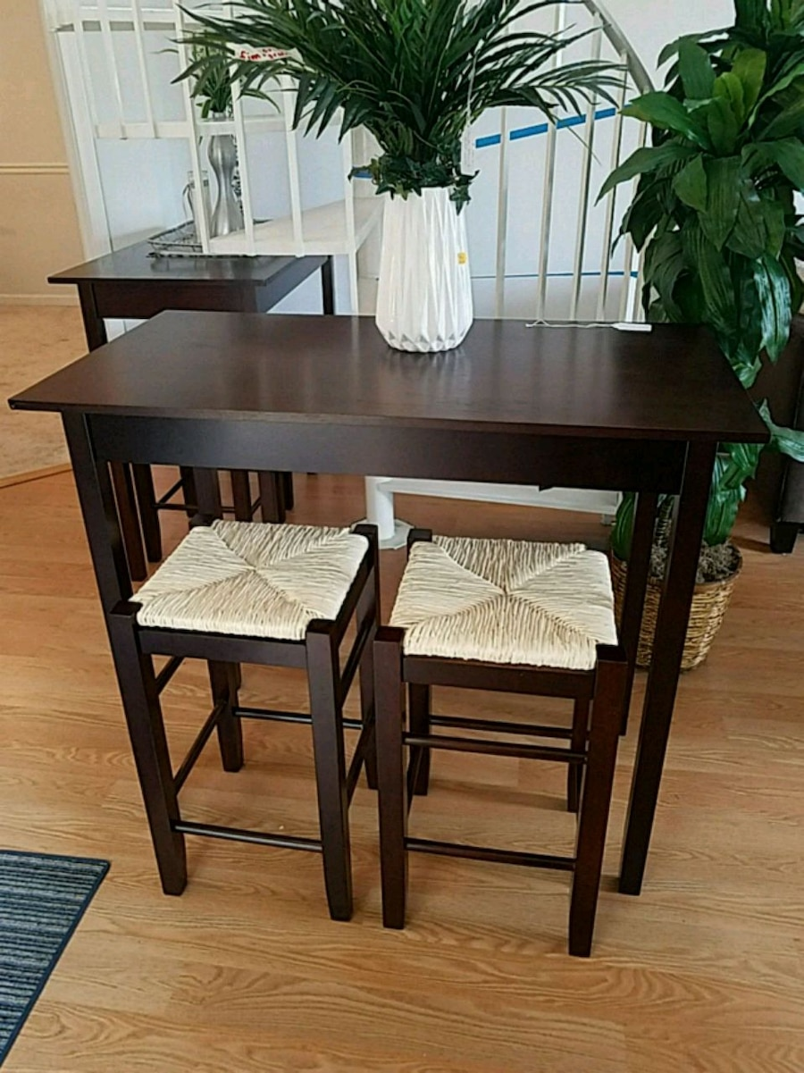 rectangular black wooden table with four chairs rh tr letgo com