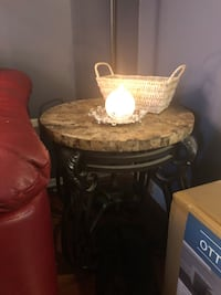 Round brown wooden side table and coffee table South Windsor, 06074