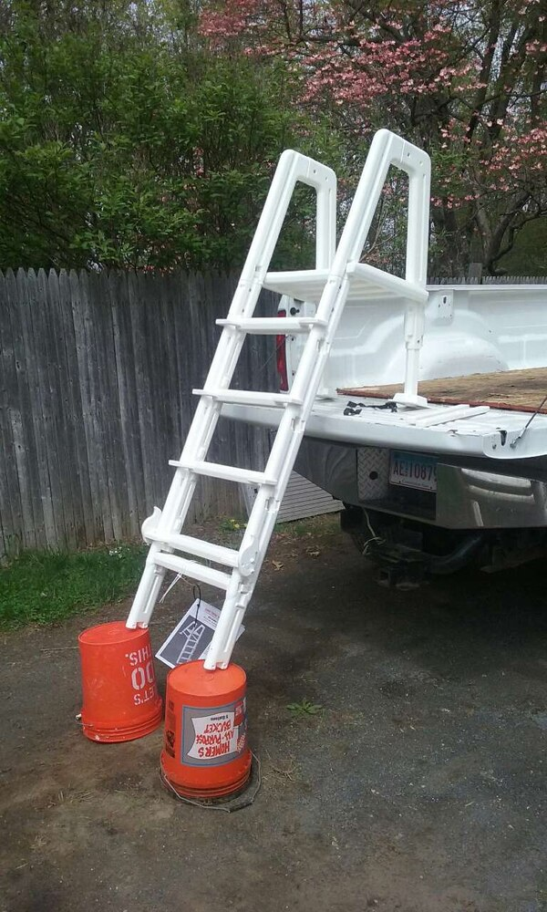 Used New Pool Ladder With Safety Gate For Sale In Enfield Letgo