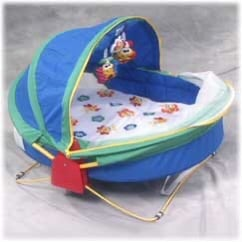 Bounce 'n Play Activity Dome Enclosed Portable Outdoor Bassinet