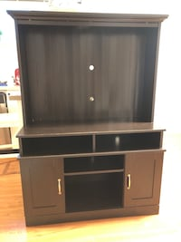 brown wooden cabinet with shelf Vancouver, V6S 1Y2