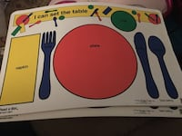Set of 4 Placemats, Teach Me to Set the Table Baltimore, 21236