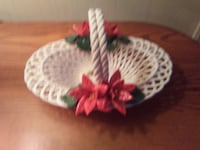 LANZARIN PORCELAIN BASKET made in Italy 767 mi