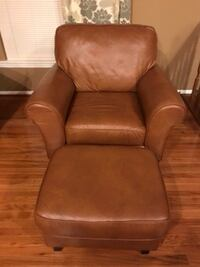 Leather Chair and Ottoman Hanover, 21076