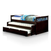 Furniture of America Nason Nesting Twin Daybed with Trundle, Dark Walnut. New.