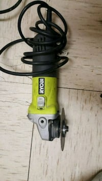 green and black Ryobi corded angle grinder Winnipeg, R3G