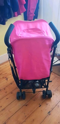 baby's pink and black stroller Greater London, NW11 7ES