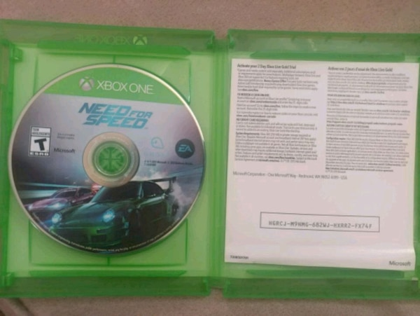 Xbox one game disc with case